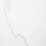 2018 54,5.83,5 cm Carboncino, grafite, corteccia bruciata ed acrilico su compensato