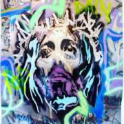 2020 120.100 cm Pittura, Spray, Combustione ossiacetilenica, Smerigliatura su lastra di ferro